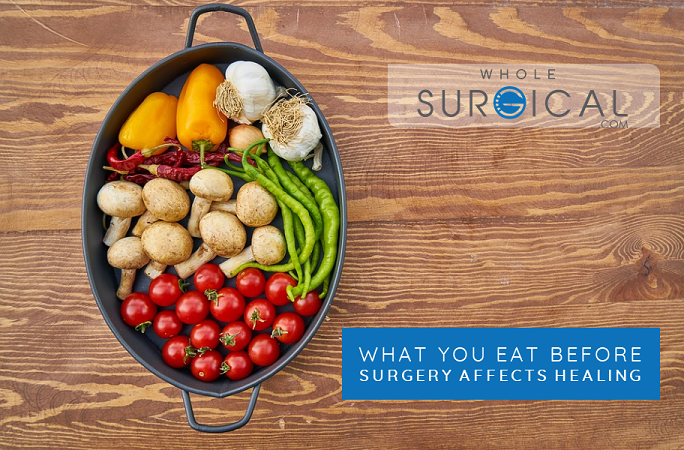 What you eat before surgery affects healing