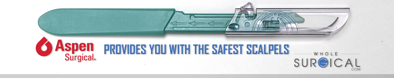 Aspen Surgical provides you with the safest scalpels!
